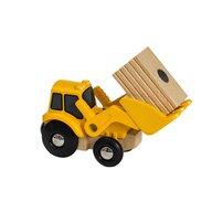 BRIO - Vehicul de lemn Macara , Cu incarcare frontala