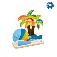 Hape - Picteaza si joaca-te - Insula tropicala