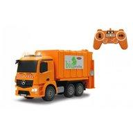 Jamara Camion de gunoi cu telecomanda 405079 scara 1:20 cu tomberoane incluse