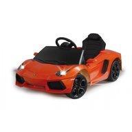 Jamara - Masinuta electrica copii Lamborghini Aventador Portocaliu 6V cu telecomanda control parinti 2.4 Ghz si MP3 player