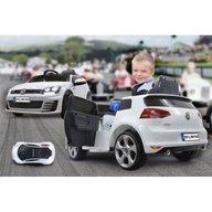 Jamara - Masinuta electrica copii Volkswagen Golf GTI 2 VII Alba 12V cu telecomanda control parinti 2.4 Ghz si MP3 player cu card memorie SD si lumina roti