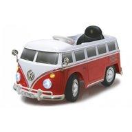 Jamara - Masinuta electrica pentru copii Volkswagen Bus t1 460234 Rosu cu alb si control parental 27mhz 12V