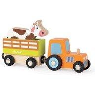 Janod Set ferma - tractor cu remorca & vacuta