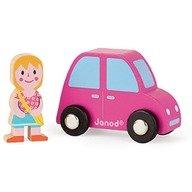 Janod Set orasul, masinuta roz & o fetita
