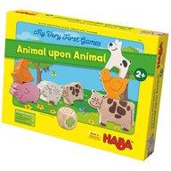 Haba - Joc de constructie cu zaruri,  Primele mele jocuri, Piramida animalelor, 2 ani+