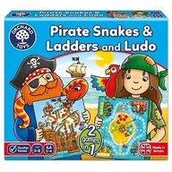 Orchard Toys - Joc de societate Piratii - Pirate Snakes And Ladders & Ludo