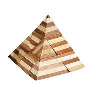 Fridolin - Joc logic IQ din lemn bambus 3D Pyramid
