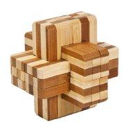 Fridolin - Joc logic IQ din lemn bambus Block cross