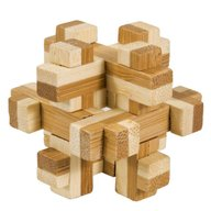 Fridolin - Joc logic IQ din lemn bambus in cutie metalica-10