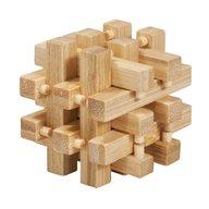 Fridolin - Joc logic IQ din lemn bambus in cutie metalica-2
