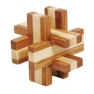 Fridolin - Joc logic IQ din lemn bambus in cutie metalica-6