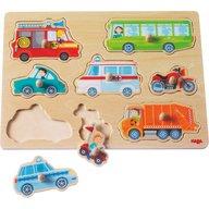 Haba - Joc tip puzzle 8 piese, Lumea vehiculelor, 12 luni+