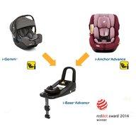 Joie Set: Scaun auto i-Anchor Advance i-SIZE Merlot + Scoica auto i-Gemm Foggy Gray + Baza Isofix I Size