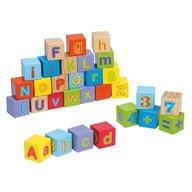 Joueco - Cuburi din lemn Alfabetul, 30 piese