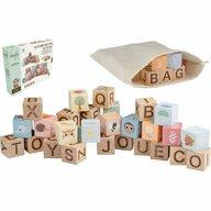 Joueco - Cuburi din lemn multifunctionale, Familia Wildies, 30 piese