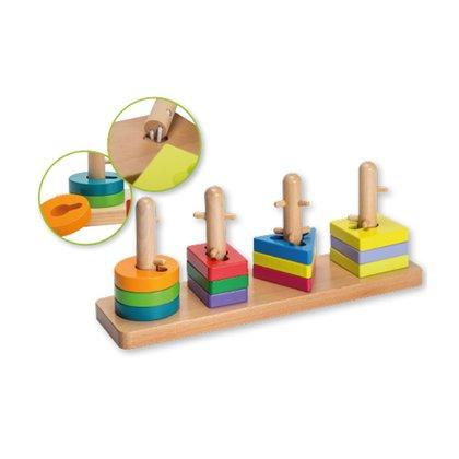 Joueco - Joc de potrivire - 4 forme geometrice