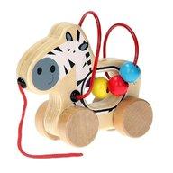 Joueco - Jucarie din lemn pentru motricitate Zebra