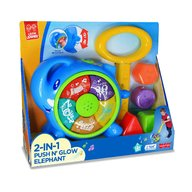 Little Learner - Jucarie de impins 2 in 1 Elefantel