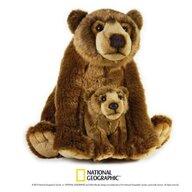 Jucarie de plus, Urs grizzly cu pui 31 cm, National Geographic