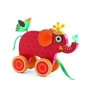 Djeco - Jucarie de tras, Elefantul Indy