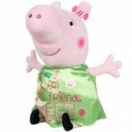 Play by Play - Jucarie din plus 25 cm, Cu rochie din satin Peppa Pig, Verde