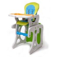 Scaun de masa Juju Eat&Play, Verde-Albastru
