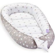 Jukki - Cosulet bebelus pentru dormit Baby Nest Cocoon XL 90x50 cm, Grey stars
