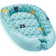Jukki - Cosulet bebelus pentru dormit Baby Nest Cocoon XL 90x50 cm, Mint forest