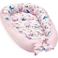 Jukki - Cosulet bebelus pentru dormit Baby Nest Cocoon XL 90x50 cm, Swallows