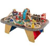 KidKraft Trenulet din lemn Waterfall Junction si masa de joaca