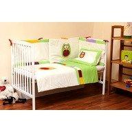 Kidsdecor Set de pat 3 piese Bufnite brodate kids