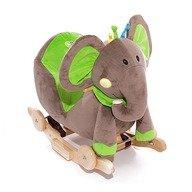 Kinderkraft Balansoar cu roti 2 in 1 Elephant Green cu sunete