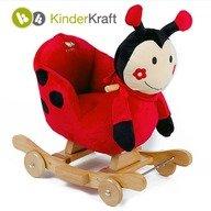 Kinderkraft Balansoar cu roti 2 in 1 Ladybag cu sunete