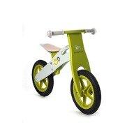 KinderKraft Bicicleta din lemn fara pedale Runner Deluxe Green