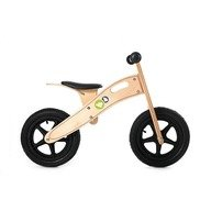 KinderKraft Bicicleta din lemn fara pedale Runner Deluxe Natur