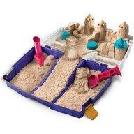 Spin Master - Nisip kinetic , Cu accesorii, In cutie cu maner, Multicolor