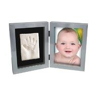 Kit Amprenta bebelus 2D 'My First Print of Frame', Kidzzcast, Argintiu