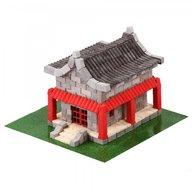 Wise Elk - Kit constructie caramizi Casa chinezeasca, 600 piese reutilizabile