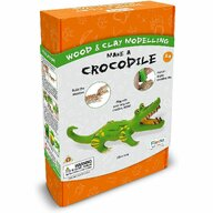 Fiesta Crafts - Kit constructie lemn si argila - Crocodil