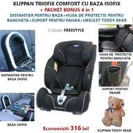 Klippan - Scaun auto Triofix Comfort, set 5 in 1, 9-36 Kg, Freestyle