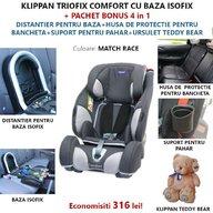Klippan - Scaun auto Triofix Comfort, set 5 in 1, 9-36 Kg, Match Race