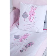 Klups - Set lenjerie 4 piese Little bunny Gri, Pink