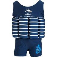 Konfidence - Costum inot copii cu sistem de flotabilitate ajustabil blue stripe 1-2 ani