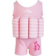 Konfidence - Costum inot copii cu sistem de flotabilitate ajustabil pink stripe 2-3 ani