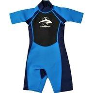 Konfidence - Costum inot din neopren pentru copii  Shorty Wetsuit blue 3-4 ani
