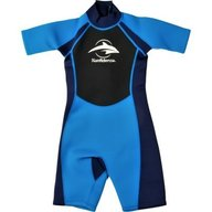 Konfidence - Costum inot din neopren pentru copii Shorty Wetsuit blue 9-10 ani
