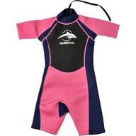 Konfidence - Costum inot din neopren pentru copii  Shorty Wetsuit pink 3-4 ani