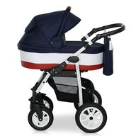 Krausman - Carucior 3 in 1 Jet Dark Blue-White