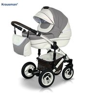 Krausman - Carucior 3 in 1 Sendo White-Light Brown