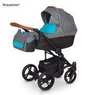 Krausman - Carucior 3 in 1 Tripp, Grey/Turqoise